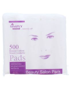 Simply Cotton 500 Round Cotton Wool Cosmetics