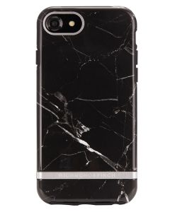 Richmond And Finch Black Marble - Silver iPhone 6/6S/7/8 Cover