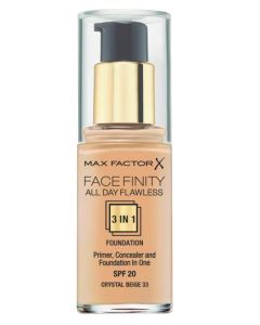 Max Factor Facefinity 3-in-1 Foundation Crystal Beige 33 - 30 ml