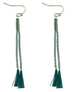 Everneed Nille Tassel øreringe - Dusty Jade