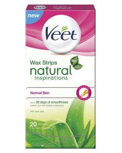 Veet Wax Strips Natural Inspirations Normal Skin 20 stk.
