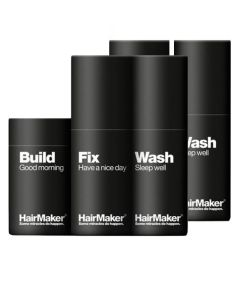 HairMaker -  Build Good Morning + 2x Hairmaker - Wash Sleep Well + 2x Hairmaker - Fix Have a Nice Day