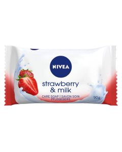 Nivea Strawberry & Milk Hånd- og Kropssæbe 90g